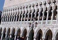 Venice Saint Mark Square, details of the front Side of the Ducale Palace. Photo by Venice Limousine Company